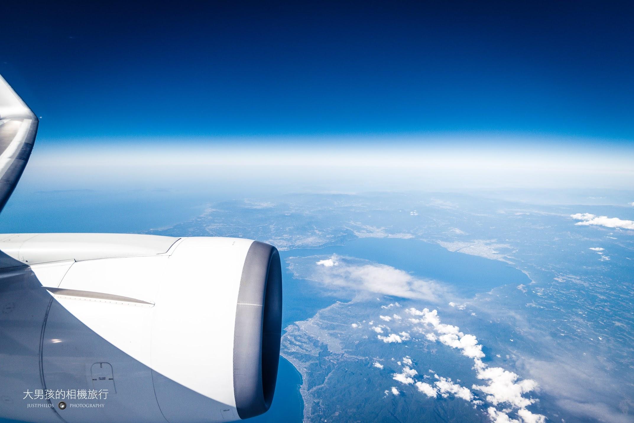 飛行當天的天氣十分的好,能見度非常的高。