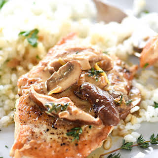 Easy Chicken Breasts with Creamy Mushroom Sauce.