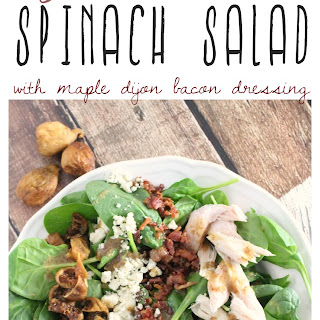 Fig and Blue Cheese Spinach Salad Recipe