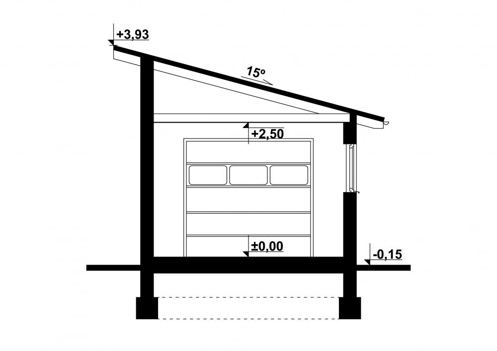 Projekt Garażu G12 Tue 855 2119m²