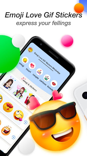 Emoji Love GIF Stickers for WhatsApp screenshot 2