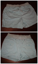 Photo: Blue-Green or Light Aqua Khaki Maternity Shorts. Size XL by In Due Time. Back flap pockets. $5