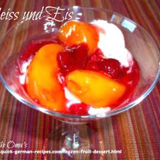 Frozen Fruit Dessert (Heiss und Eis).