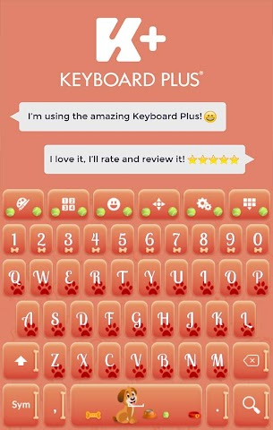 android Sweet Puppy Keyboard Screenshot 6