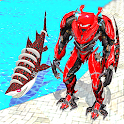 Warrior Robot Shark Game:Angry Shark Simulator App icon