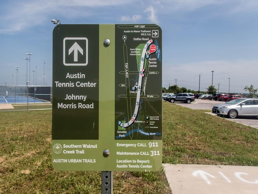 Austin Tennis Center Trail Sign