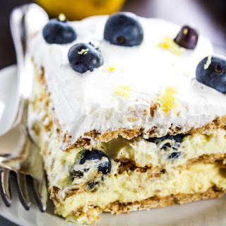 Lemon Blueberry Icebox Cake.