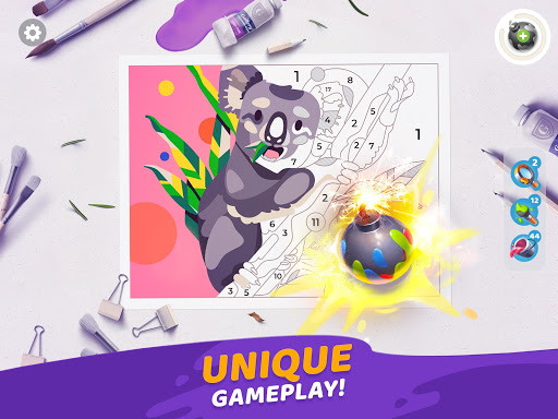 Gallery: Coloring Book by Number & Home Decor Game  screenshots 22