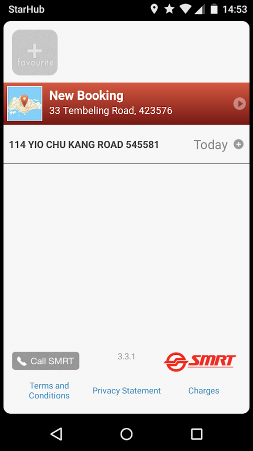 SMRT Book a Taxi- screenshot