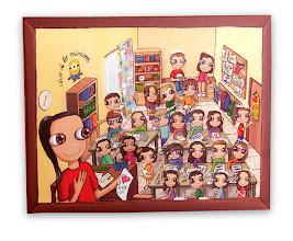 Photo: Lienzo personalizado. 40x30 cm, pintado en acrílico y barnizado. Consultar precios
