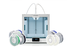 Ultimaker S5 Dual Extrusion 3D Printer Starter Bundle with Enhanced Service Plan (2 Years of Warranty Protection)