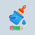 Paint app, Kids art – Play with paint & colours icon