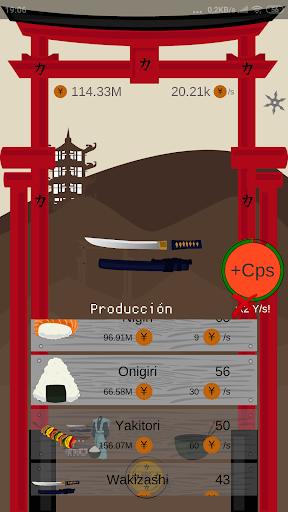 Télécharger Samurai Empire Clicker apk mod screenshots 4
