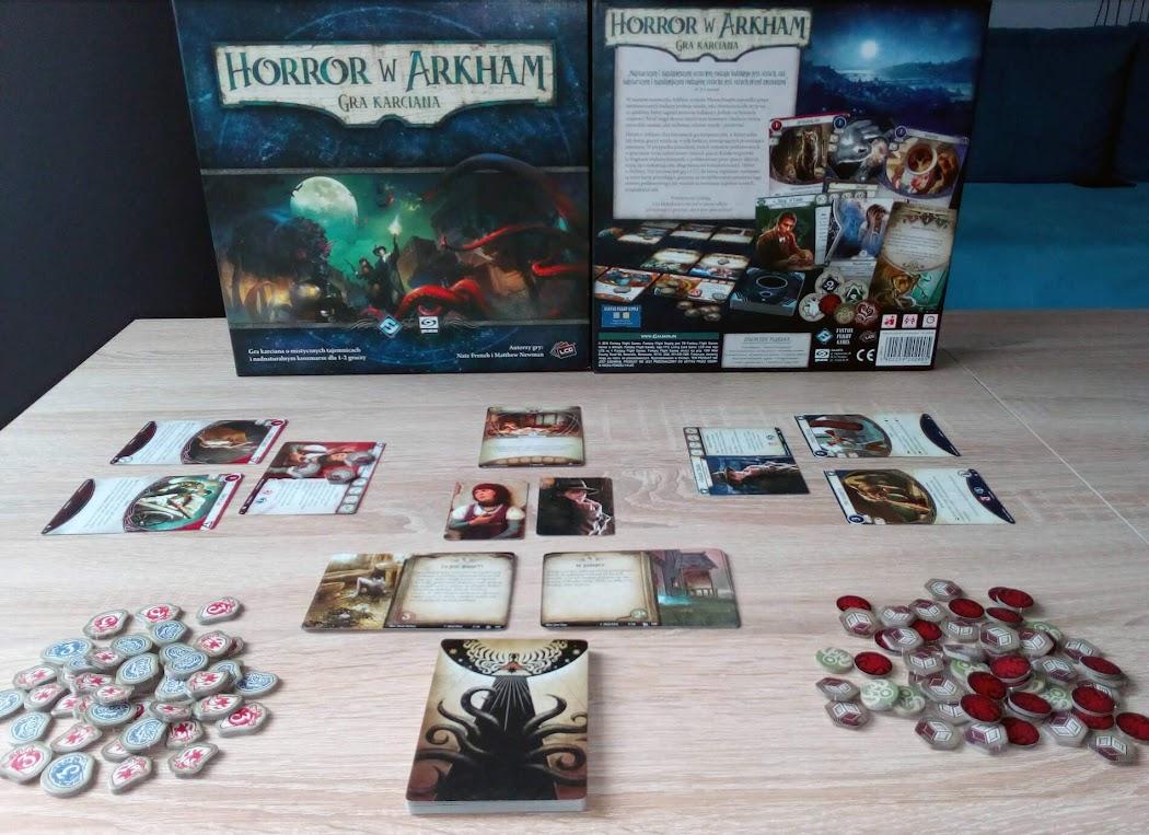 Horror w Arkham gra karciana - co w pudełku
