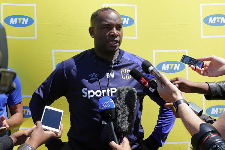 Benni McCarthy, head coach of Cape Town City speaks to the media during the 2017 MTN 8 Cape Town City FC Media Open Day and morning training session at Green Point, Cape Town on 11 October 2017.