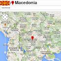 Macedonia map icon