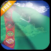 3D Turkmenistan Flag Live Wallpaper