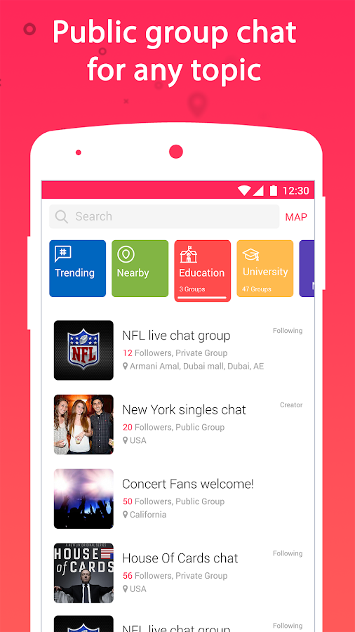 TipIt - Go Live, Chat-rooms- screenshot