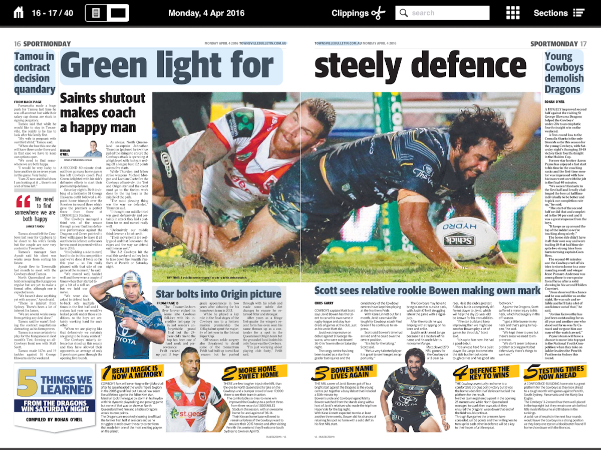 The Townsville Bulletin- screenshot