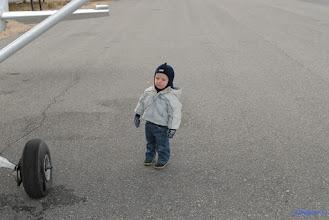 Photo: Daniel sin første flytur.