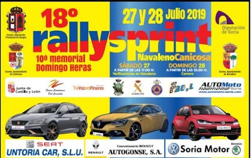 XVIII Rallye-Sprint Navaleno - Canicosa 2019