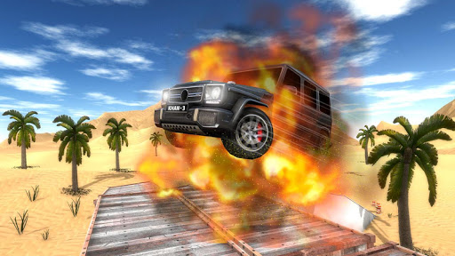 4X4 SUV Desert Jeep Driving Stunts Adventure 2018 screenshot 14