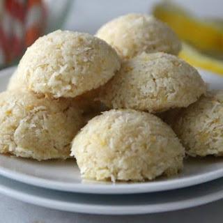 Chewy Lemon Coconut Macaroons.