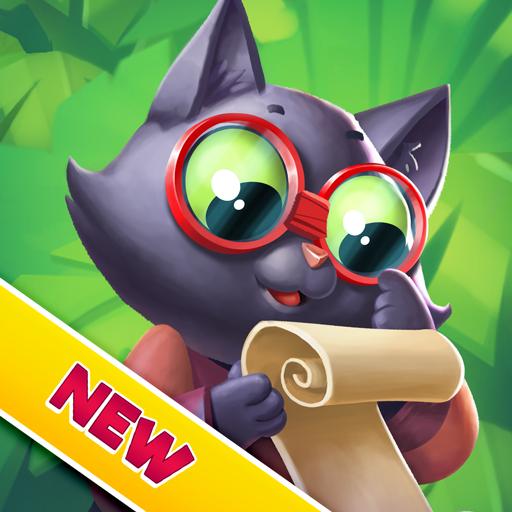 Tropicats: Free Match 3 on a Cats Tropical Island Icon