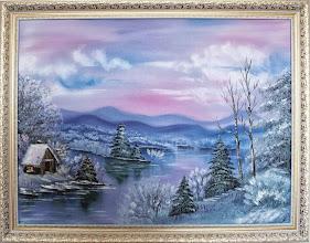 Photo: Элеонора Обухова, Розовая зима, 60х80см, холст, масло