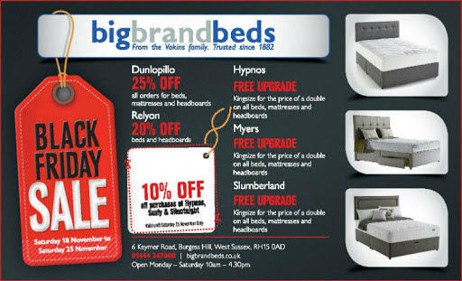 Black Friday Advert for Sale of Beds, Mattresses & Headboards