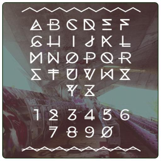 Typography Font Alphabet (app)