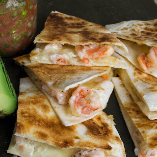 Tequila Shrimp and Asadero Quesadillas.