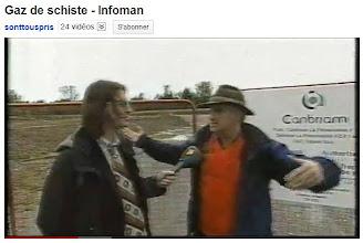Photo: INFOMAN (14/10/10) Canada..Jean-René Dufort alias Infoman visite des sites de forage de gaz de schiste en Montérégie avec l'environnementaliste Daniel Green.  http://www.youtube.com/watch?v=5itRzf1QEkE