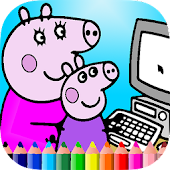 Coloring Book of Peppy Pig