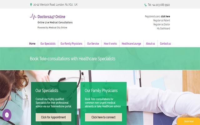 Doctors247 Online Screen Share