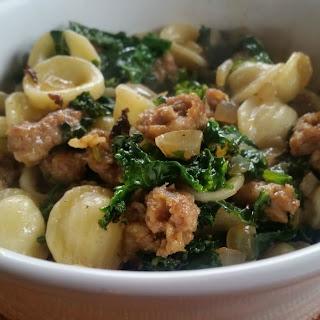 Orecchiette with Kale, Sausage & Garlic Recipe