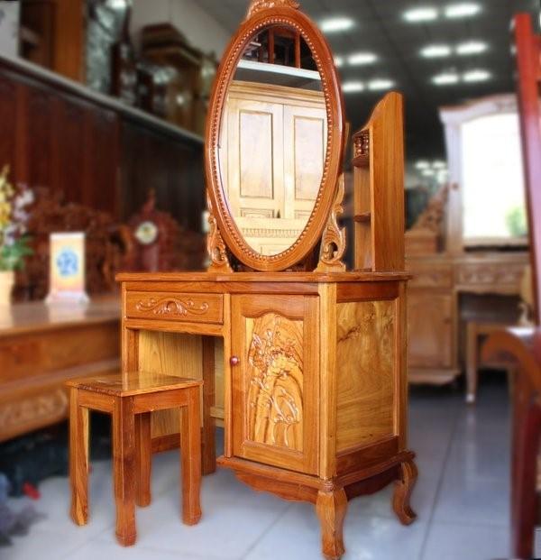 bàn trang điểm bằng gỗ