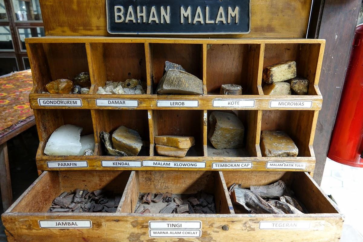 Indonesia. Crafts . Batik Natural Coloring Components