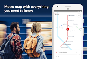 screenshot of Yandex.Metro — detailed metro map and route times