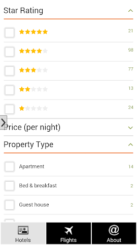 android Prague Hotels and Flights Screenshot 2
