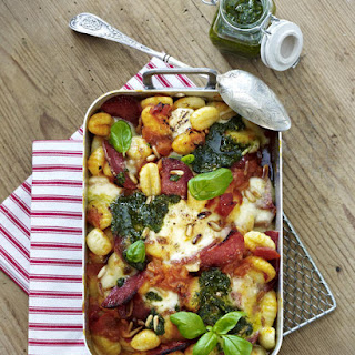 Baked Gnocchi with Tomato, Basil and Mozzarella