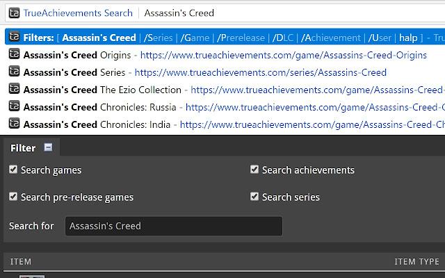 TrueAchievements Search