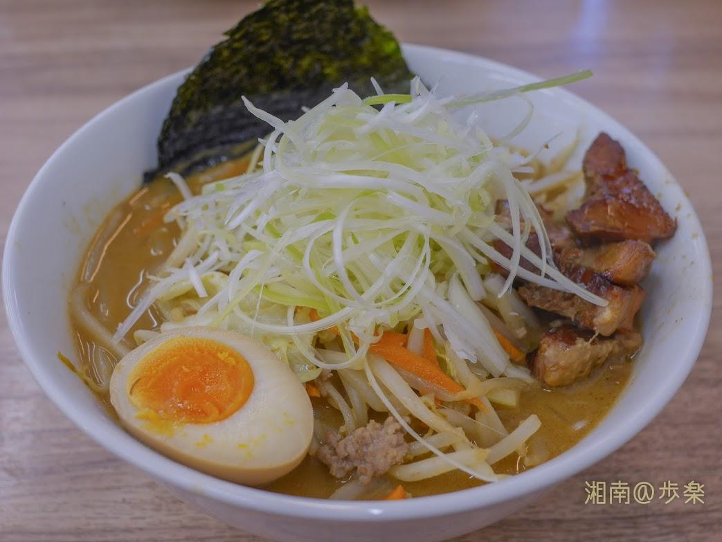 小林屋用田店:サッポロらーめん@750 炒めた野菜+挽肉