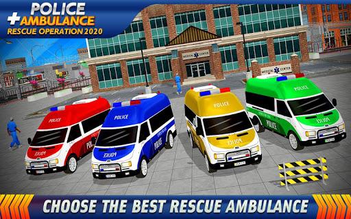 Police Ambulance Rescue Driving: 911 Emergency apktreat screenshots 1