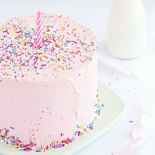 Pink Vanilla & Sprinkles Cake