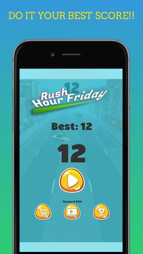 Code Triche Rush Hour Friday - Jeu de Course de Voiture mod apk screenshots 5