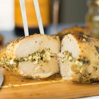 Feta and Pesto Stuffed Chicken Breasts Recipe