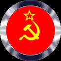 Soviet Button Communism Anthem of USSR full length icon