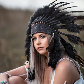 Shania by Chris O'Brien - People Portraits of Women ( girl, location, headdress, woman, beautiful, beauty, portrait )