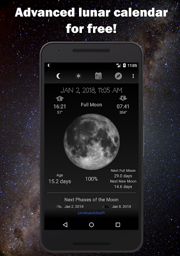 Moon Phase Calendar 1.16 screenshots 1
